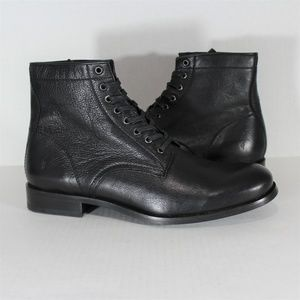 Frye Tyler Black Lace Up Boots 3487446 NEW R980